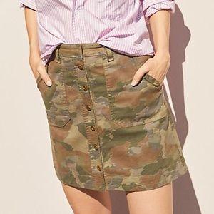 Anthropologie Camo Utility Mini Skirt Size 10